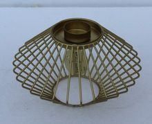 Gold Plated Metal Wire Tea Light Candle Holders