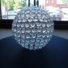 crystal round ball table centerpiece