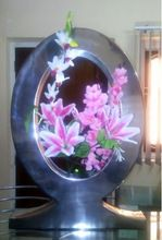 led table flower vase