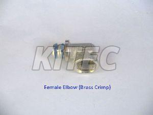 Brass Crimp Female Elbow