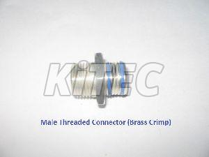 Brass Crimp Male Threaded Connector