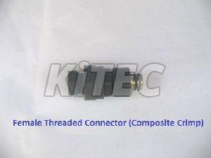 Composite Crimp Female Threaded Connector