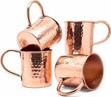 Copper Beer Mug Hammered Design