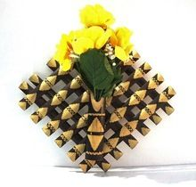 Bamboo Wall Hanging Flower Vase
