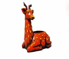 Terracotta Clay Deer Shaped Planter