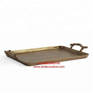 Aluminum Gold Metal Tray