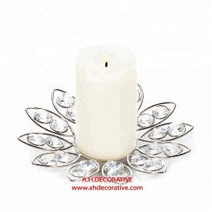 Crystal Flower T-Light Holder