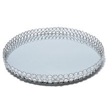 Crystal mirror tray