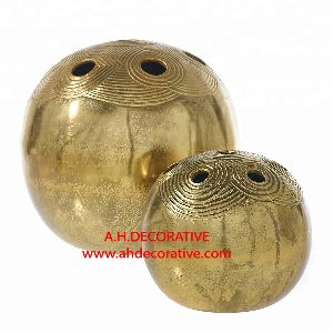 Egyptian Design Gold Vase