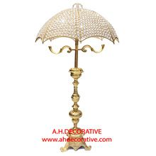 Gold Crystal Umbrella Centerpiece