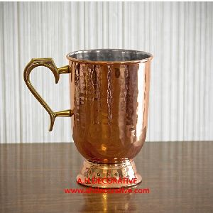 Hammered Copper Beer Mug