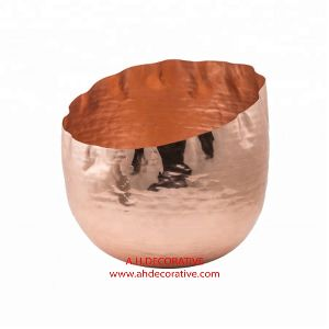 Hammered Copper Flower Vase