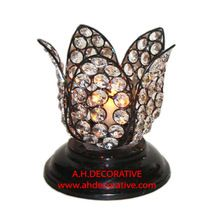 Lotus Flower Crystal T-light Holder