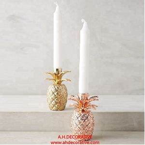 Metal Pineapple Candlestick Holder