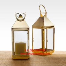 Shiny Gold Square Lantern