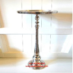 Silver Pillar Candle Stand