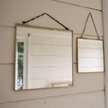 Brass edging Square shape mirror
