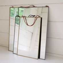 Brass Rectangular Free Standing Gold Mirror Frame