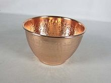 Copper Hammered Fruit Bowl