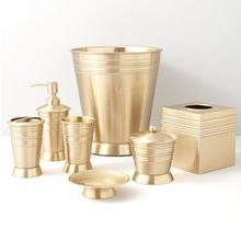 Copper With Nickel Brass Bathroom Set