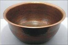 Foot Soak Copper Hammered Pedicure Bowl