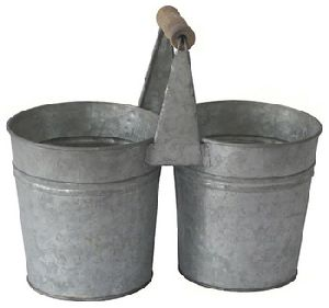 Galvanized Metal Double Pot