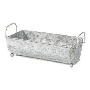 Galvanized Planter Tub