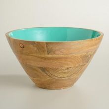 Mango Wood Fruit Serving Bowl
