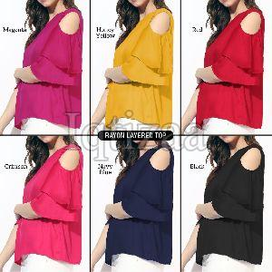 Rayon Layered Top