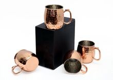 COPPER HAMMERED MUG WITH THUMB REST