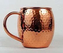 Solid Hammered Copper Mugs
