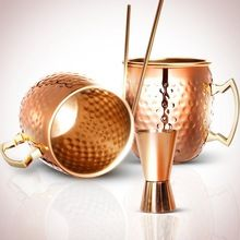 Two Moscow Mule Copper Mugs