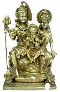 Brass Shiv Parwati Ji Statue