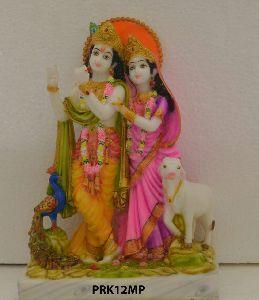 Mould Marble Radha Krishan Statue