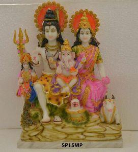 Mould Marble Shiv Parivar Statue