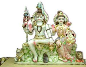 White Marble Gauri Shankar Statue