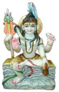 White Marble Shankar Statue