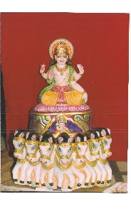 White Marble Surya Dev Bhagwan Statue