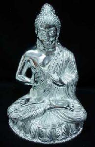 White Metal Buddha Ji Statue