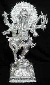 White Metal Ganesh Ji Statue