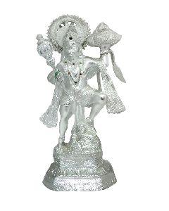 White Metal Hanuman Ji Statue