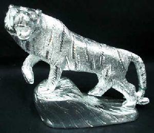White Metal Lion Figure