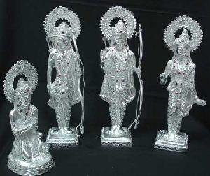 White Metal Ram Darbar Statue