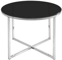stainless steel black round marble top table