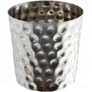 Hammered Stainless Steel Fry Cup Tumbler