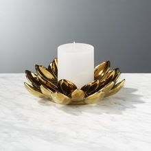 Metal Flower Candle Holder