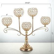 WEDDING GOLD CANDELABRA