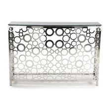 Console Table in Silver Nickel