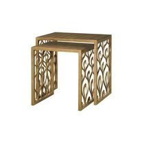Raw Brass Nesting Table
