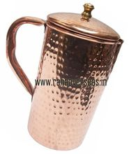 Pure Copper Hammered Water Serving Jug